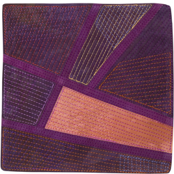 Abstract Contemporary Textile Painting / Art Quilt - Plum Pudding - Day 17 ©2016 Lisa Call