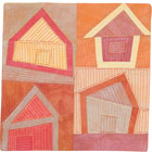 Abstract Contemporary Textile Painting / Art Quilt - Home #5 ©2008 Lisa Call