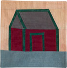 Abstract Contemporary Textile Painting / Art Quilt - Home #9 ©2009 Lisa Call