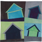 Abstract Contemporary Textile Painting / Art Quilt - Home #14 ©Lisa Call