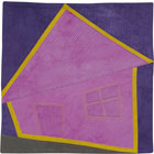 Abstract Contemporary Textile Painting / Art Quilt - Home #18 ©Lisa Call