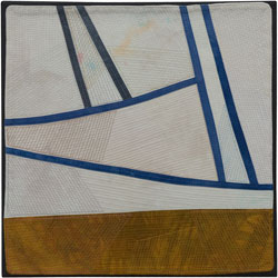 Abstract Contemporary Textile Painting / Art Quilt - Changing Perspective | Seeing Forever #8 Lisa Call