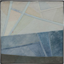 Abstract Contemporary Textile Painting / Art Quilt - Changing Perspective | Seeing Forever #13 Lisa Call