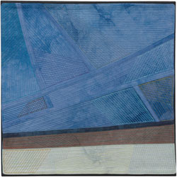 Abstract Contemporary Textile Painting / Art Quilt - Changing Perspective | Seeing Forever #14 Lisa Call