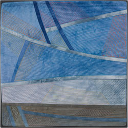 Abstract Contemporary Textile Painting / Art Quilt - Changing Perspective | Seeing Forever #18 Lisa Call