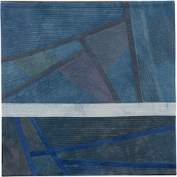 Abstract Contemporary Textile Painting / Art Quilt - Changing Perspective | Seeing Forever #24 Lisa Call
