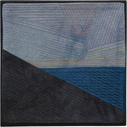 Abstract Contemporary Textile Painting / Art Quilt - Endless Horizon: Morning SkyLisa Call