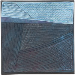 Abstract Contemporary Textile Painting / Art Quilt - Endless Horizon: Night CrossingLisa Call