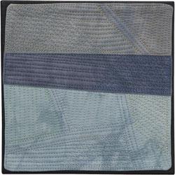Abstract Contemporary Textile Painting / Art Quilt - Endless Horizon: Rain Lisa Call