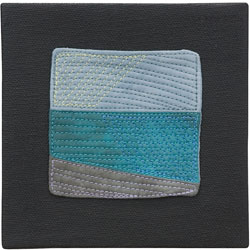 Abstract Contemporary Textile Painting / Art Quilt - Endless Horizon: Sea Lisa Call