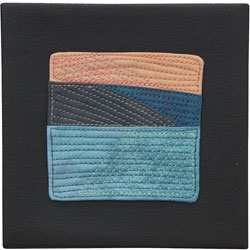 Abstract Contemporary Textile Painting / Art Quilt - Endless Horizon: Sunset in Picton Lisa Call