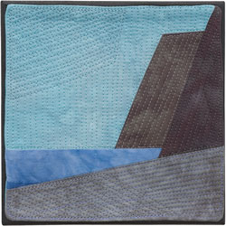 Abstract Contemporary Textile Painting / Art Quilt - Endless Horizon: Towards Lake FerryLisa Call