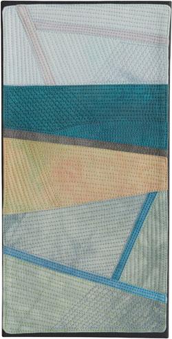 Abstract Contemporary Textile Painting / Art Quilt - Endless Horizon: Wairarapa Lisa Call