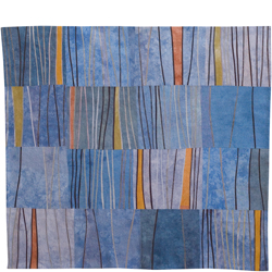 Abstract Contemporary Textile Painting / Art Quilt - Markings #7 ©Lisa Call