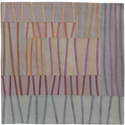 Abstract Contemporary Textile Painting / Art Quilt - Markings #24 Lisa Call