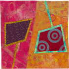 Abstract Contemporary Textile Painting / Art Quilt - Portals #2 ©Lisa Call