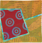 Abstract Contemporary Textile Painting / Art Quilt - Portals #4 ©Lisa Call