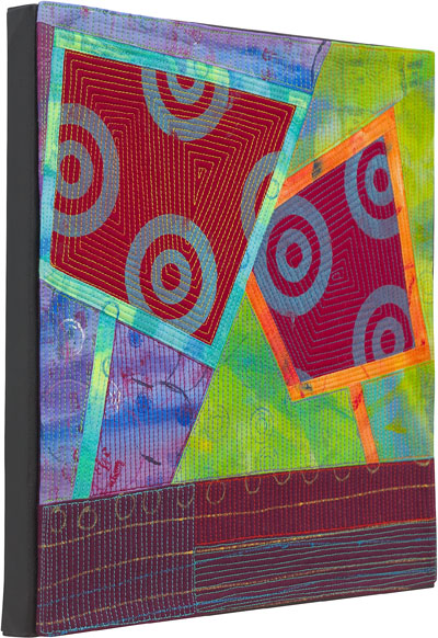 Abstract Contemporary Textile Painting / Art Quilt - Portals #7 ©2013 Lisa Call