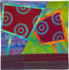 Abstract Contemporary Textile Painting / Art Quilt - Portals #7 ©Lisa Call