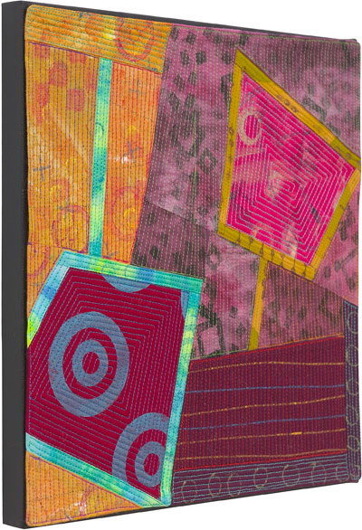 Abstract Contemporary Textile Painting / Art Quilt - Portals #9 ©2013 Lisa Call