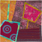 Abstract Contemporary Textile Painting / Art Quilt - Portals #9 ©Lisa Call