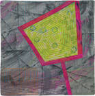 Abstract Contemporary Textile Painting / Art Quilt - Portals #10 ©2013 Lisa Call