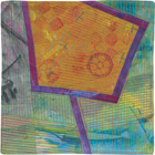 Abstract Contemporary Textile Painting / Art Quilt - Portals #12 ©2013 Lisa Call