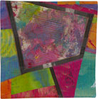 Abstract Contemporary Textile Painting / Art Quilt - Portals #13 ©2013 Lisa Call