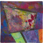 Abstract Contemporary Textile Painting / Art Quilt - Portals #15 ©Lisa Call