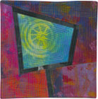 Abstract Contemporary Textile Painting / Art Quilt - Portals #16 ©2013 Lisa Call