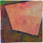 Abstract Contemporary Textile Painting / Art Quilt - Portals #17 ©Lisa Call
