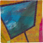 Abstract Contemporary Textile Painting / Art Quilt - Portals #18 ©Lisa Call