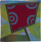 Abstract Contemporary Textile Painting / Art Quilt - Portals #19 ©2013 Lisa Call