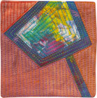 Abstract Contemporary Textile Painting / Art Quilt - Portals #23 ©Lisa Call