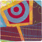 Abstract Contemporary Textile Painting / Art Quilt - Portals #24 ©2013 Lisa Call