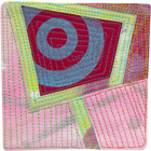 Abstract Contemporary Textile Painting / Art Quilt - Portals #28 ©2013 Lisa Call