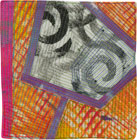 Abstract Contemporary Textile Painting / Art Quilt - Portals #34 ©Lisa Call