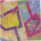 Abstract Contemporary Textile Painting / Art Quilt - Portals #37 ©2013 Lisa Call