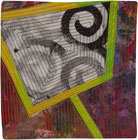 Abstract Contemporary Textile Painting / Art Quilt - Portals #39 ©2013 Lisa Call