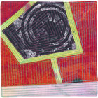 Abstract Contemporary Textile Painting / Art Quilt - Portals #40 ©Lisa Call