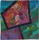 Abstract Contemporary Textile Painting / Art Quilt - Portals #41 ©Lisa Call