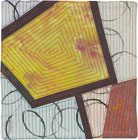 Abstract Contemporary Textile Painting / Art Quilt - Portals #42 ©Lisa Call