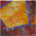 Abstract Contemporary Textile Painting / Art Quilt - Portals #44 ©2013 Lisa Call