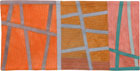 Abstract Contemporary Textile Painting / Art Quilt - Postcards from Italy #1 ©2013 Lisa Call