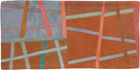 Abstract Contemporary Textile Painting / Art Quilt - Postcards from Italy #5 ©2013 Lisa Call