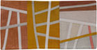 Abstract Contemporary Textile Painting / Art Quilt - Postcards from Italy #6 ©2013 Lisa Call
