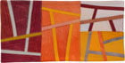 Abstract Contemporary Textile Painting / Art Quilt - Postcards from Italy #7 ©2013 Lisa Call