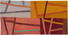 Abstract Contemporary Textile Painting / Art Quilt - Postcards from Italy #8 ©2013 Lisa Call