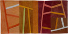Abstract Contemporary Textile Painting / Art Quilt - Postcards from Italy #9 ©2013 Lisa Call
