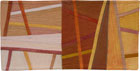 Abstract Contemporary Textile Painting / Art Quilt - Postcards from Italy #11 ©2014 Lisa Call